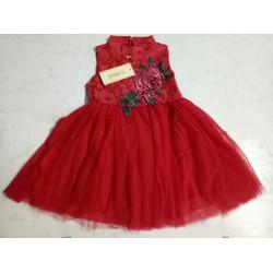 Đầm  sườn xám đỏ