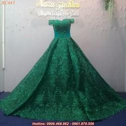 áo cưới trễ vai AC445