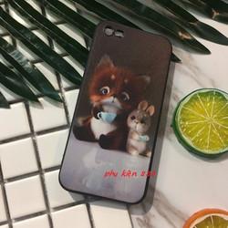 Ốp lưng cho Iphone 5 5s chồn cầm ly