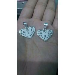 Mặt dây chuyền bạc trái tim