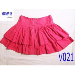 Váy ngắn xòe nhún màu đỏ xinh xắn