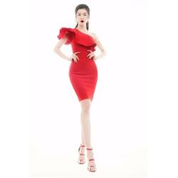 Đầm lệch vai đẹp phong cách trẻ trung ôm body X1041