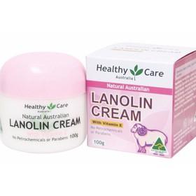 Kem Dưỡng Da Nhau Thai Cừu Lanolin Cream with vitamin e hủ 100g của hãng Healthy Care từ Úc - Healthy Care