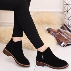 B037  - Giày bốt nữ phong cách Hàn Quốc