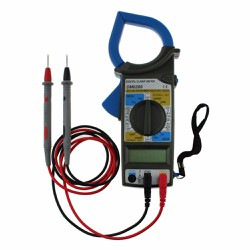 DM6266 LCD Digital Clamp Meter AC DC Current Voltage Resistance Tester