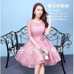 Đầm ren xoè công chúa - A27412