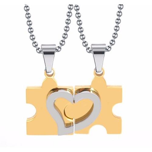 Dây chuyền inox cặp đôi mảnh ghép màu vàng MC193 - 11071125 , 6912939 , 15_6912939 , 145000 , Day-chuyen-inox-cap-doi-manh-ghep-mau-vang-MC193-15_6912939 , sendo.vn , Dây chuyền inox cặp đôi mảnh ghép màu vàng MC193