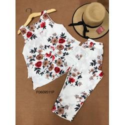 Set bộ hoa lưng nơ quần lửng hàng thiết kế!  MS: S060936 Gs: 115k