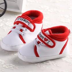 Giày tập đi thể thao I Love Papa Mama  cho cả bé trai và gái