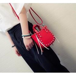 Hàng Quảng Châu - Túi xách đeo chéo mini đinh tán thời trang trẻ