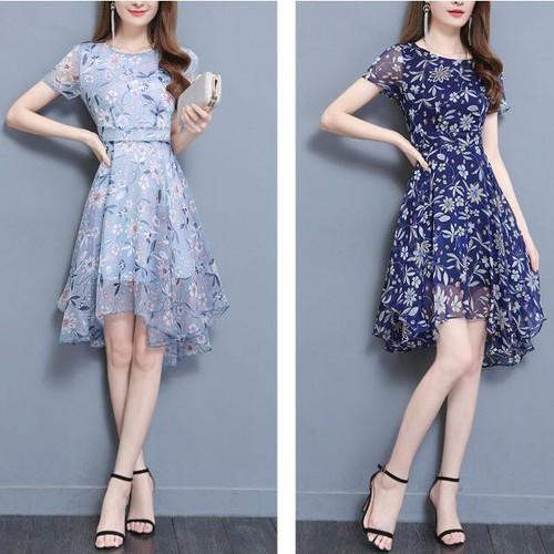 Đầm maxi nữ  2 lớp 5mx5055