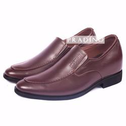 Giày Tăng Chiều Cao Nam 7cm P106N Màu Nâu