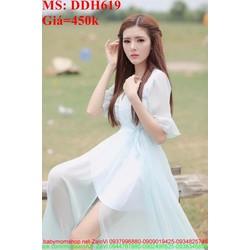 Đầm maxi xẻ tả dài phong cách trẻ trung và xinh đẹp DDH619