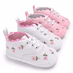 Giày tập đi thể thao thêu hoa thời trang cho bé gái