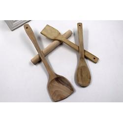 Bộ dụng cụ nấu ăn 4 món bắng gỗ