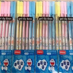 Bộ bút bi 12 chiếc tẩy xóa được sau khi viết Doraemon Mực Màu xanh