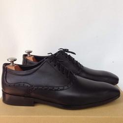 Giày tây nam cột dây họa tiết phong cách Ý