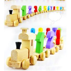 Đoàn tàu số - đồ chơi gỗ toán học cho bé