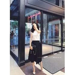 set bo ao thun chan vay kaki hang chuan shop