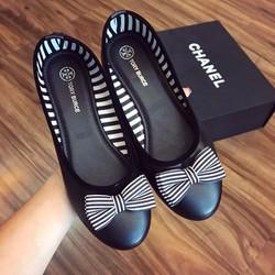 Giày búp bê nơ sọc - G07647