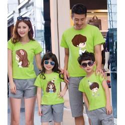 Áo thun cotton 4 chiều cho cả gia đình 85k 1 áo