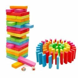 Đồ chơi rút gỗ màu đẹp 54 thanh
