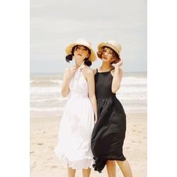 Đầm Xòe Maxi Hở Lưng Đi Biển