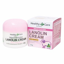Kem dưỡng da mỡ cừu Healthy Care Lanolin Cream Vitamin E 100g