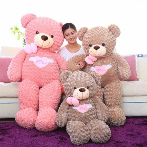 Gấu bông teddy angel hồng  80cm