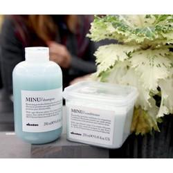 Combo 1 cặp dầu gội xả Davines MINU dành cho toc nhuộm giữ màu tóc