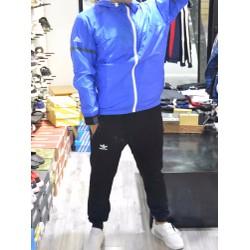 Bộ Quần áo gió Adidas thể thao Nam Xanh