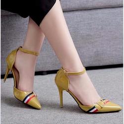 Giày cao gót thiết kế phối màu độc đáo dễ dàng mang đồ 156
