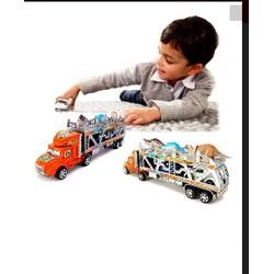 Mô hình xe tải container chở thú ô tô loại lớn