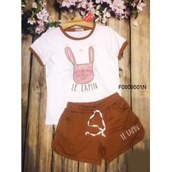 Set bộ thun thỏ quần short hàng thiết kế - MS: S080953 Gs: 105k