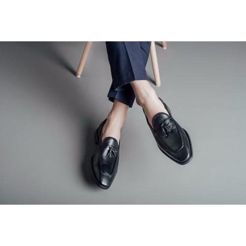 Giày lười nam da bò thắt chuông hiện đại GNLA486-27M-D