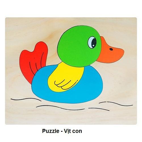 Bộ tranh ghép 13 loài động vật bằng gỗ | Puzzle Animal 20x25cm 69k|tranh|con
