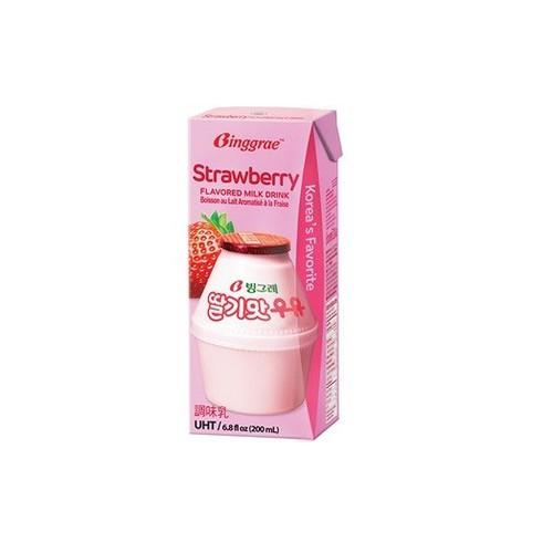 Sữa dâu Binggrae Hàn Quốc hộp 200ml