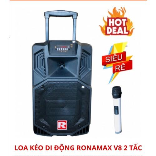 Loa kéo di động Ronamax V8 bass 2 tấc