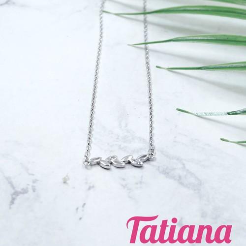 Dây Chuyền Mặt Nữ Đá Zircon Full Leaf - Tatiana - DB2002 - Bạc