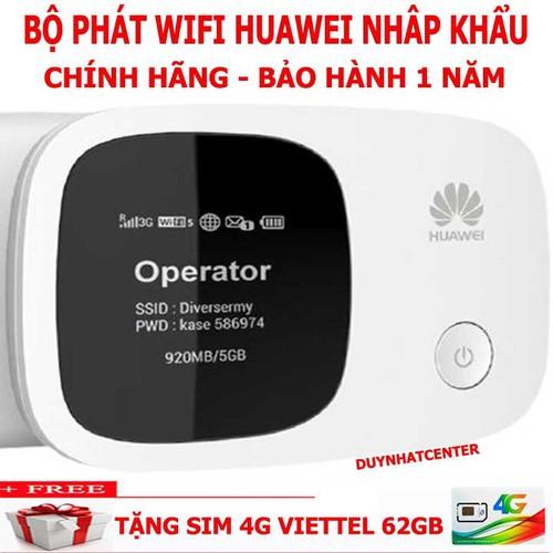 PHÁT WIFI 3G 4G DI DỘNG CẦM TAY HUAWEI E5336