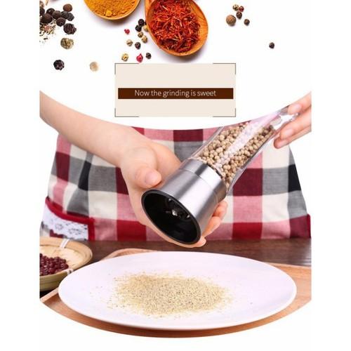 Xay tiêu - lọ xay tiêu inox cối xay tiêu mini