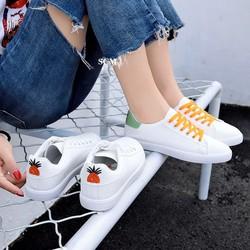 Giày thể thao trái thơm dây màu |Giày thể thao nữ