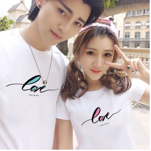 áo thun cặp tình  nhân love