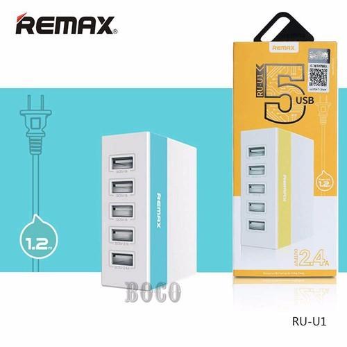 Ổ điện cóc sạc Remax 5 cổng chính hãng