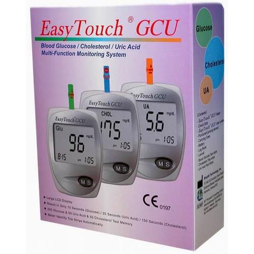 Máy đo đường huyết, mỡ máu, gout easytouch gcu