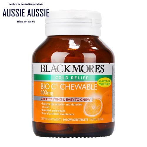 Viên ngậm Vitamin C Blackmores Bio C Chewable 500mg 50 viên