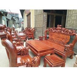 Bàn ghế phòng khách nghê đỉnh gỗ hương vân