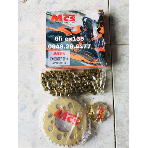 bộ nhông sên dĩa ex135 MCS 9li