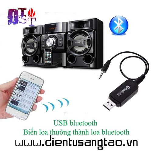 USB bluetooth BT-163 - Bluetooth 5.0 Biến Loa Thường Thành Loa Bluetooth