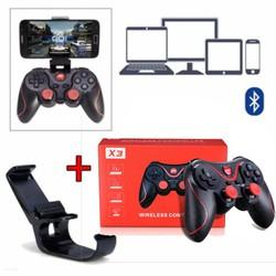 Bộ tay cầm chơi game Terios X3 kèm giá đỡ điện thoại